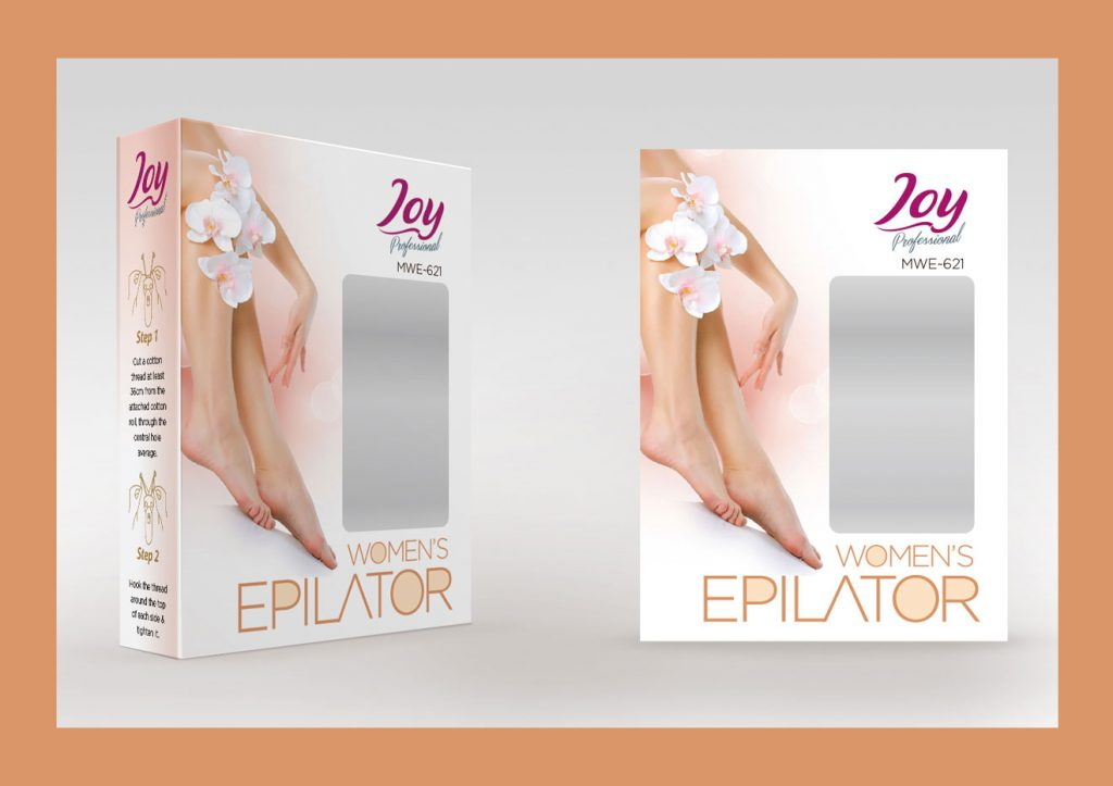 JOY Women's Epilator Box Packaging